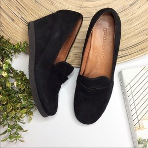 """gentle souls """"Up At Dawn"""" suede loafer wedges"""